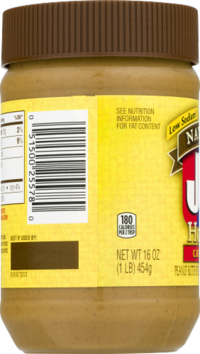 Jif Natural Creamy Honey Peanut Butter Perspective: left