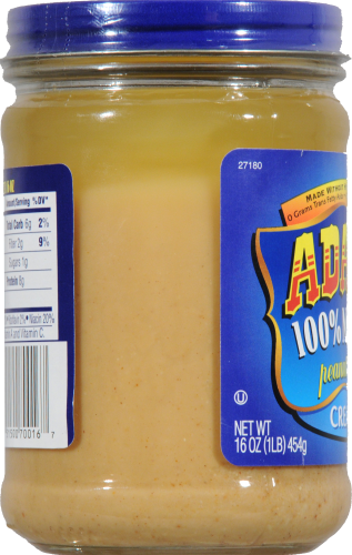 Adams 100% Natural Creamy Peanut Butter Perspective: left