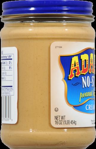 Adams No-Stir Creamy Peanut Butter Perspective: left