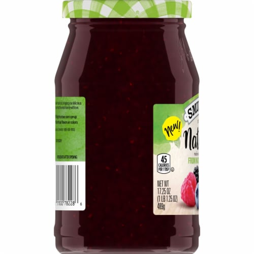 Smucker's Natural Triple Berry Fruit Spread Perspective: left