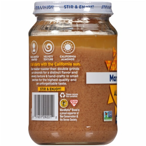 MaraNatha Crunchy Roasted Almond Butter Perspective: left