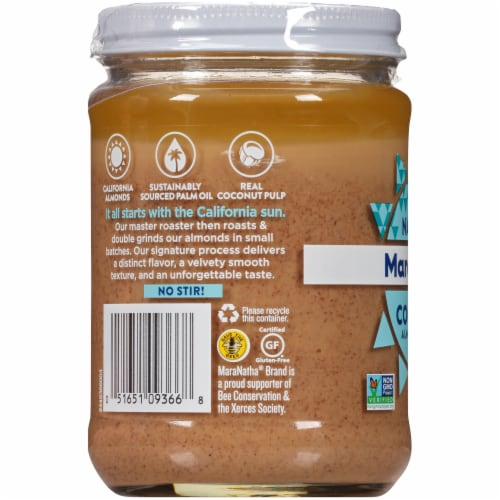 Maranatha Creamy Coconut Almond Butter Perspective: left