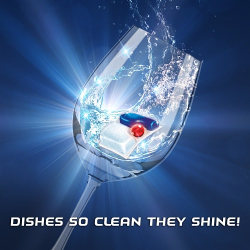 Finish Powerball Quantum Dishwasher Detergent Tabs Perspective: left