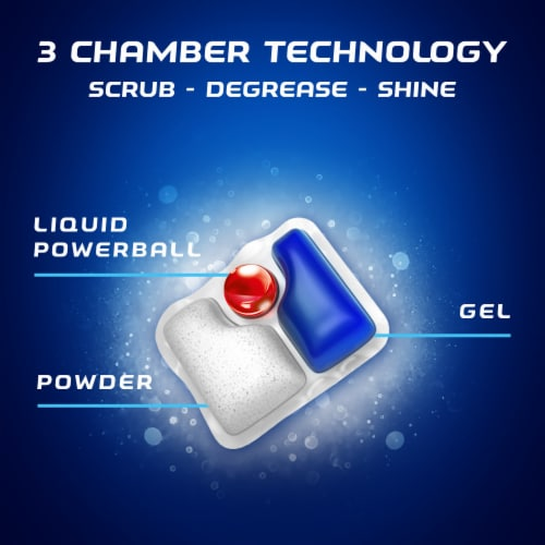 Finish Powerball Quantum Lemon Scent Dishwashing Tablets Perspective: left