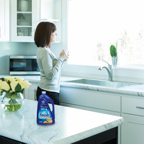 Finish Advanced Orange Scent Gel Dishwasher Detergent Perspective: left