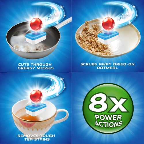 Finish Powerball Fresh Scent Dishwasher Detergent Tablets Perspective: left