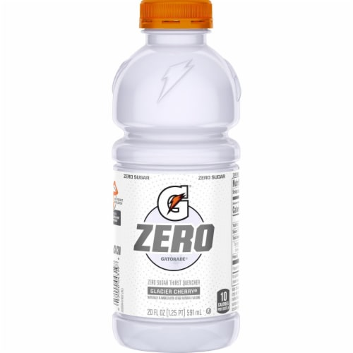 Gatorade G Zero Sugar Glacier Cherry Electrolyte Enhanced Sports Drinks Perspective: left