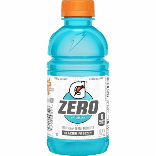 Gatorade G Zero Sugar Glacier Freeze Electrolyte Enhanced Sports Drinks Perspective: left