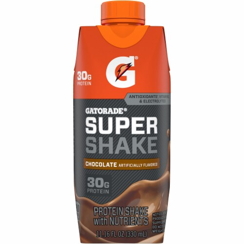 Gatorade® Super Shake Chocolate Ready to Drink Protein Shakes Perspective: left