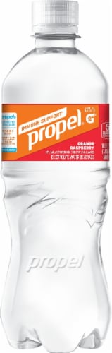 Propel Orange Raspberry Immune Support Electrolyte Water Beverage Perspective: left