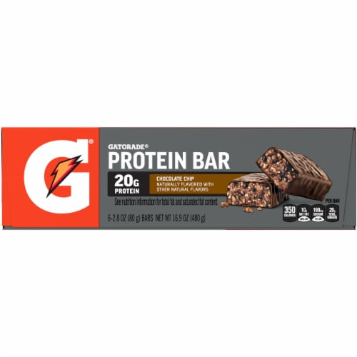 Gatorade Chocolate Chip Whey Protein Bars Perspective: left