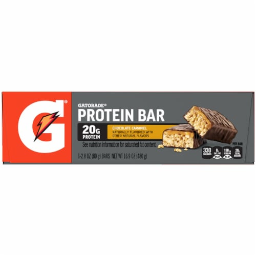 Gatorade Fuel Bar Chocolate Caramel Whey Protein Bars Perspective: left