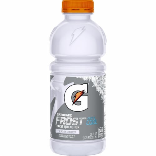 Gatorade Frost Thirst Quencher Glacier Cherry Electrolyte Enhanced Sports Drinks Perspective: left