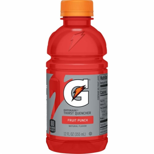 Gatorade G Fruit Punch Electrolyte Enhanced Sports Drink Perspective: left