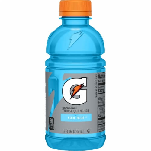 Gatorade G Cool Blue Electrolyte Enhanced Sports Drink Perspective: left