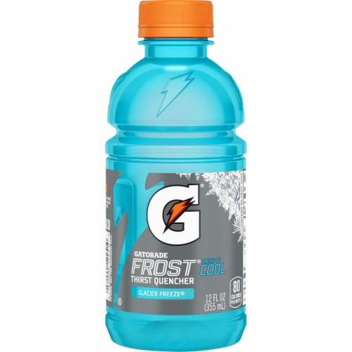 Gatorade Frost Thirst Quencher Glacier Freeze Sports Drink Perspective: left