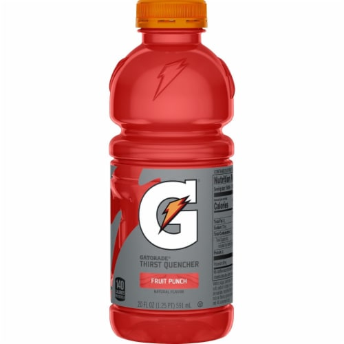 Gatorade Thirst Quencher Fruit Punch Sports Drinks Perspective: left
