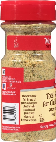 McCormick Total Seasoning for Chicken & Fish Perspective: left