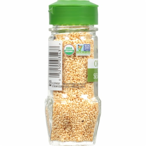 McCormick Gourmet Organic Toasted Sesame Seed Shaker Perspective: left