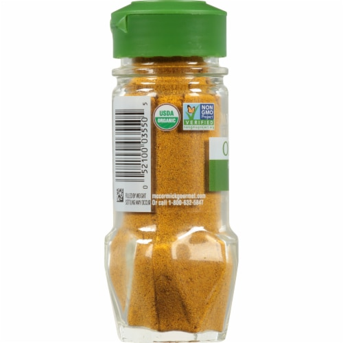 McCormick Gourmet Organic Hot Madras Curry Powder Shaker Perspective: left