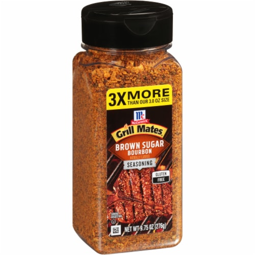 McCormick Grill Mates Brown Sugar Bourbon Seasoning Perspective: left