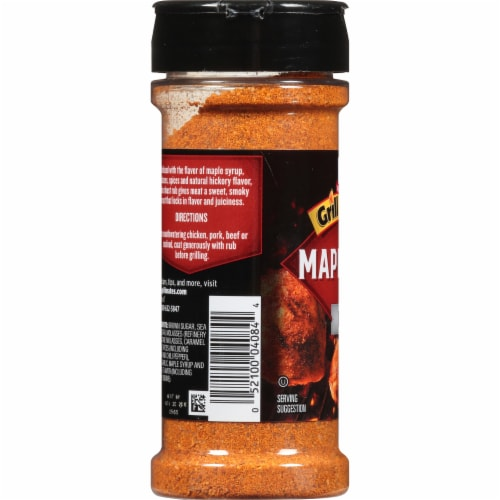 McCormick Grill Mates Maple BBQ Rub Shaker Perspective: left