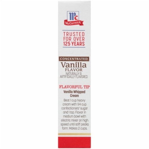 McCormick Concentrated Vanilla Flavor Perspective: left