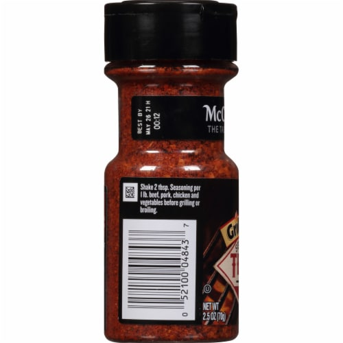 McCormick Grill Mates Rich & Smoky Texas BBQ Seasoning Perspective: left