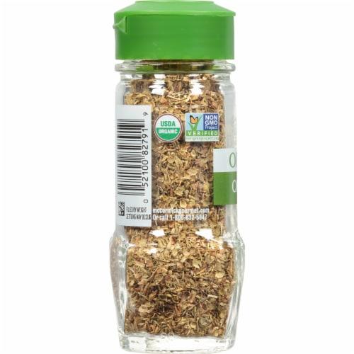 McCormick Gourmet Organic Oregano Shaker Perspective: left