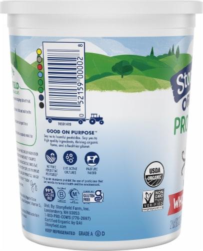 Stonyfield Organic Vanilla Probiotic Whole Milk Yogurt Perspective: left