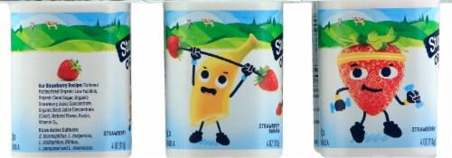 Stonyfield Organic Kids Strawberry & Strawberry Banana Lowfat Yogurt 6 Count Perspective: left