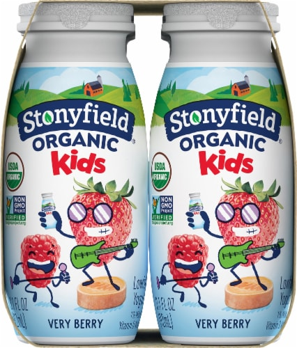 Stonyfield Organic Kids Very Berry Yogurt Smoothie Perspective: left