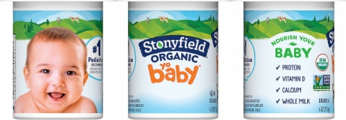 Stonyfield Organic YoBaby Vanilla Whole Milk Yogurt Perspective: left