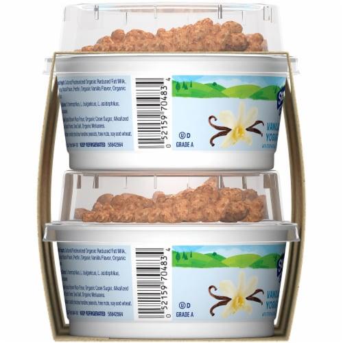 Stonyfield Organic Vanilla Lowfat Yogurt with Choco Koala Crisp Perspective: left