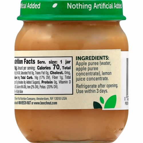 Beech-Nut Apple Stage 2 Baby Food Perspective: left