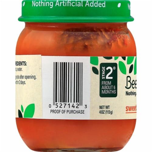 Beech-Nut Stage 2 Sweet Carrots Baby Food Jar Perspective: left