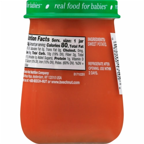 Beech-Nut Naturals Sweet Potato Stage 1 Baby Food Perspective: left
