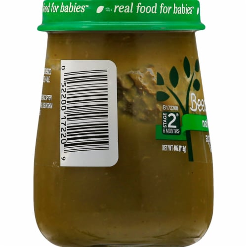 Beech-Nut Naturals Apple & Kale Stage 2 Baby Food Perspective: left