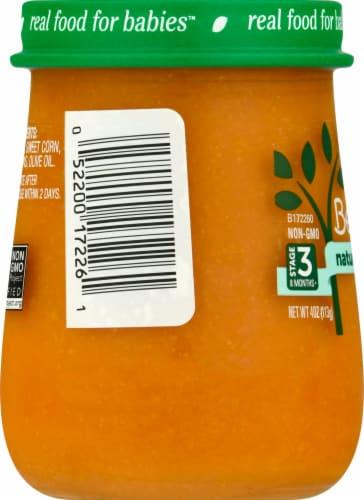 Beech-Nut Naturals Superblends Carrot Corn Chickpea Baby Food Jar Perspective: left
