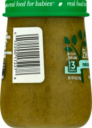 Beech-Nut® Naturals Superblends Stage 3 Banana Chickpea & Kale Baby Food Perspective: left