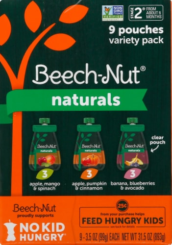 Beech-Nut Naturals Stage 2 Baby Food Variety Pack Perspective: left
