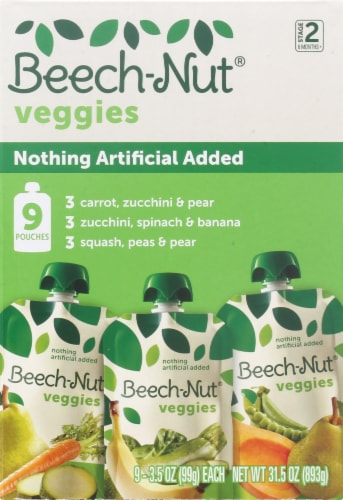 Beech-Nut Veggies Stage 2 Baby Food Variety Pack Perspective: left