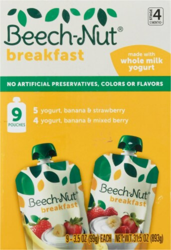 Beech-Nut Breakfast Stage 4 Baby Food Variety Pack Perspective: left