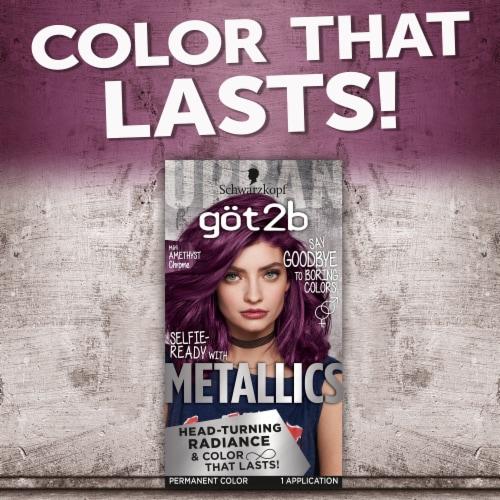 Got2b Metallics Amethyst Chrome Permanent Hair Color Perspective: left