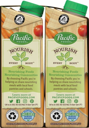 Pacific Organic Vegetable Broth Perspective: left