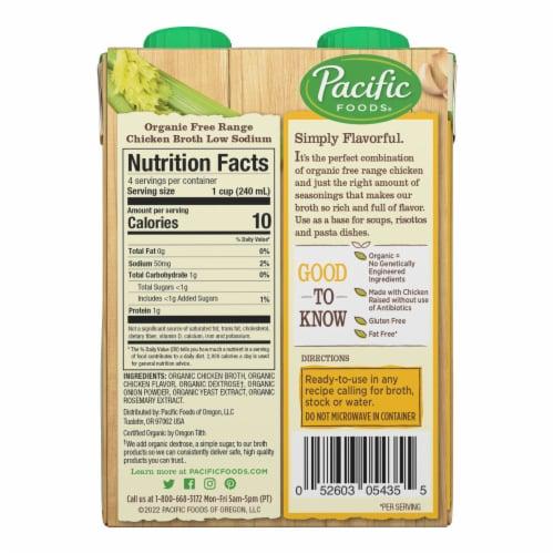 Pacific Organic Low Sodium Free Range Chicken Broth Perspective: left
