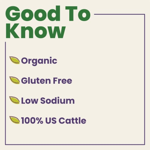 Pacific Organic Low Sodium Beef Broth Perspective: left