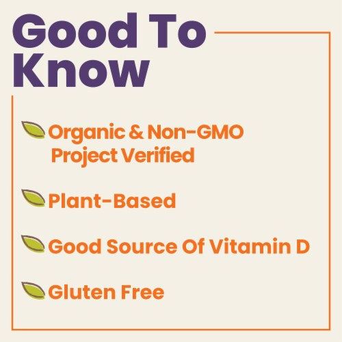 Pacific Foods Organic Almond Plant-Based Beverage Perspective: left