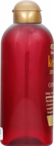 OGX Keratin Smoothing Oil Shampoo Perspective: left