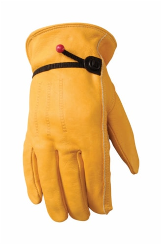 Wells Lamont Work & Home Heavy Duty Cowhide Gloves Perspective: left